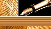 Kommentar Logo Feder Brasilianisch Galeriebild mit Opiniao