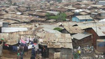 A photo of Kibera showing thousands of poorly-built shanty homes