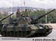 Tanque Leopardo, de fabricación alemana, fue suministrado al gobierno turco.