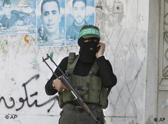 A Hamas militant in Gaza City