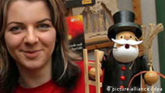 Toy maker and saleswoman Ines Reichmann