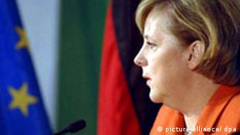EU Deutschland Angela Merkel Flagge