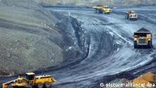 Deutschland Uranerztagebau Wismut in Ronneburg