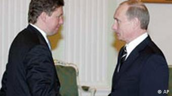 Putin and Gazprom CEO Alexei Miller