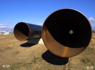 Участок строящегося газопровода