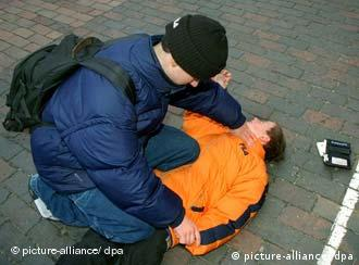 A 16-year-old student tackles a younger student in order to mug him
