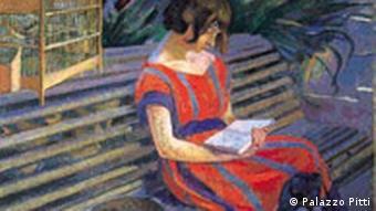 Das Bild: Nenette sulla panchina von Elisabeth Chaplin, Foto: Galleria d'arte moderna di Palazzo Pitti