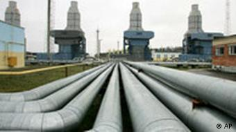 A gas compressor station of the Yamal-Europe pipeline near Nesvizh, some 130 km (81 miles) southwest of the capital Minsk, Belarus