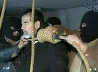 Saddam Hussein's execution was taped and broadcast on Iraqi TV