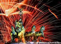 Fireworks over the Brandenburg Gate