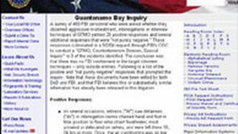 USA FBI zu Guantanamo Screenshot FBI-Seite