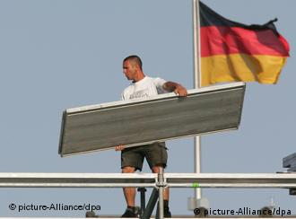 Nowhere is the German economic boom more evident than in the construction industry