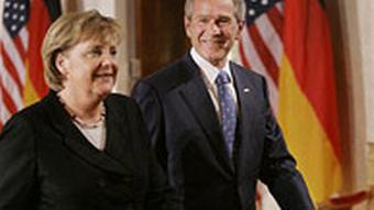Bundeskanzlerin Angela Merkel besucht George W. Bush in Washington