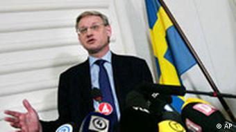 Schweden Außenminister Carl Bildt Ostsee-Pipeline