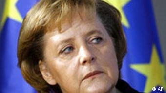 Deutschland EU Bundeskanzlerin Angela Merkel Flagge
