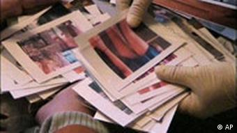 Confiscated photos from a child pornography raid