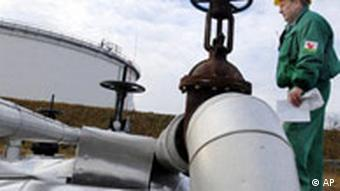 An oil pipeline in Belarus.