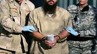 Guantanamo detainee led by US soldiers