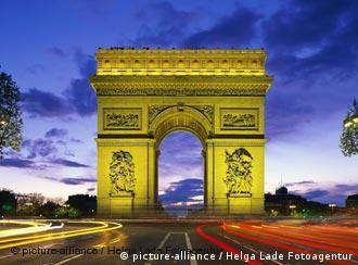 Der Arc de Triomphe in Paris