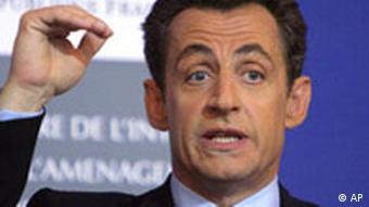 Der französische Innenminister Sarkozy