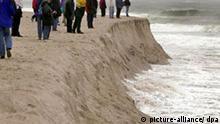 Deutschland Sylt Wetter Stürme setzen Sylt schwer zu Nordsee nagt an Dünen und Kliffkanten