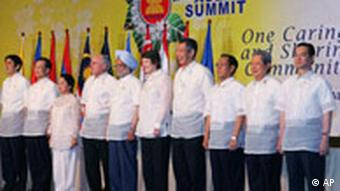 ASEAN leaders pose for a group photo following their 2nd East Asia Summit