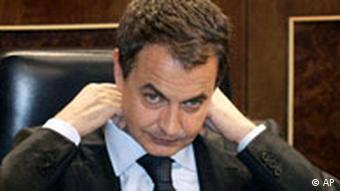 Spain's Socialist prime minister José Luis Rodríguez Zapatero