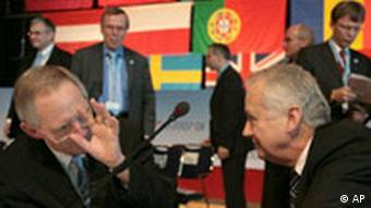 Deutschland EU Treffen der Justiz- und Innenminister in Dresden Wolfgang Schäuble