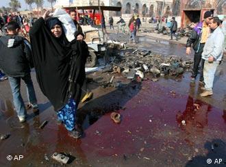 Bombenanschlag im Bagdad, Foto: AP
