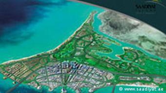 Insel Saadiyat vor der Küste Abu Dhabis