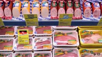 Meat section at Lidl