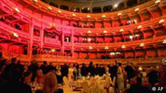 A black-tie debutantes' ball at the Semper Opera House in Dresden, Germany