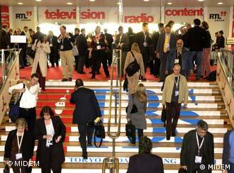Consumers and sellers mingle with the movers and shakers at Midem 2007 in Cannes