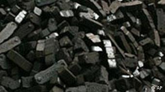 A pile of black coal