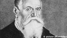 Der Maler und Kupferstecher Lucas Cranach der Ältere in einer zeitgenössischen Darstellung. Er gehört neben Dürer und Grünewald zu den bedeutensten Künstlern des 16. Jahrhunderts. Lucas Cranach d.Ä. wurde 1472 (die Angaben differieren bis 1480) in Kronach in Oberfranken geboren und verstarb am 16. Oktober 1553 in Weimar.