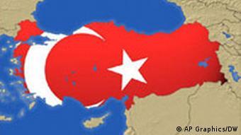Türkei Flagge Karte