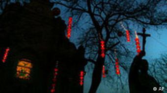 Eine staatlich anerkannte katholische Kirche in der Hauptstadt Peking (Foto: AP)