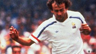 Michel Platini bei der WM 1986 in Mexiko