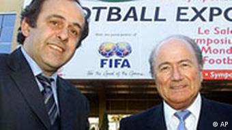 Michel Platini (left) and Joseph Sepp Blatter