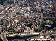 Mannheim - Luftaufnahme der Stadt - (bitte freies Formatbild) Foto: Foto-Hauck-Werbestudios, Ottheinrich Hauck, undatierte Aufnahme, 2006