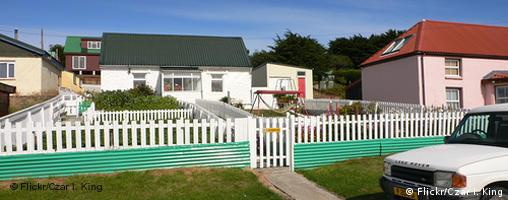 Houses in Stanley on the Falkland Islands