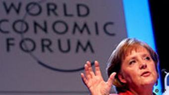 Bundeskanzlerin Angela Merkel bei der Eröffnungsrede