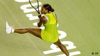 Serena Williams in action on court