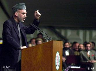Der afghanische Präsident Abdul Hamid Karzai, Foto: AP