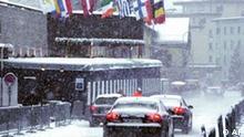 Schweiz Weltwirtschaftsforum in Davos Schnee