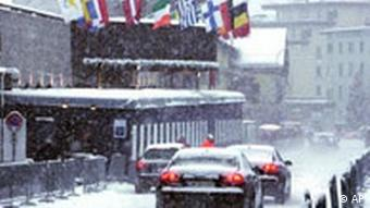 Treffen in Davos, Quelle: AP