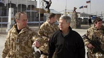 Craddock, right, in Afghanistan