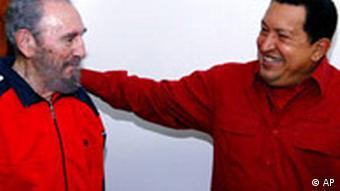 Kuba Fidel Castro und Hugo Chavez