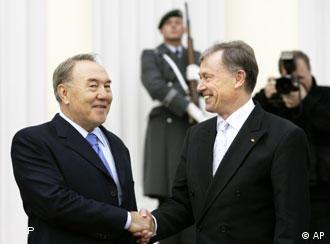 Nasarbajew und Köhler würdigen bilaterale Beziehungen