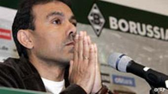 Jos Luhukay from the Netherlands takes part in a press conference as he is announced as new head coach of German soccer club Borussia Moenchengladbach in Moenchengladbach, Germany, Wednesday, Jan. 31, 2007. Former head coach Jupp Heynckes resigned on Wednesday. (AP Photo/Martin Meissner)